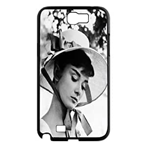 Custom High Quality WUCHAOGUI Phone case Movie & TV Super Star Audrey Hepburn Protective Case For Samsung Galaxy Note 2 Case - Case-5