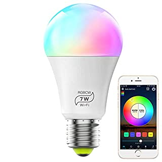 MagicLight Smart Light Bulb (No Hub Required), E26 A19 7W (60w Equivalent) Multicolor Dimmable WiFi LED Bulb, Works with Alexa Google Home and Siri