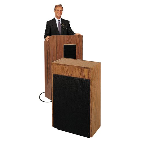 Laminate Standard Lectern - Oklahoma Sound 300 Extension Speaker, Dual 8