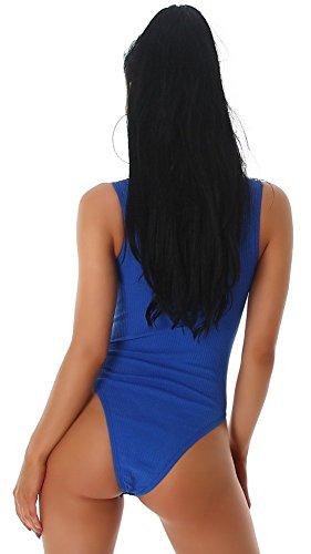 Unbekannt - Body - para mujer Azul