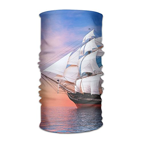 Ship Watercrafts Sea Ocean Boats Sky Clouds Sailing Unisex Fashion Quick-drying Microfiber Headdress Outdoor Magic Scarf Neck Neck Scarf Hooded Scarf Super Soft Handle
