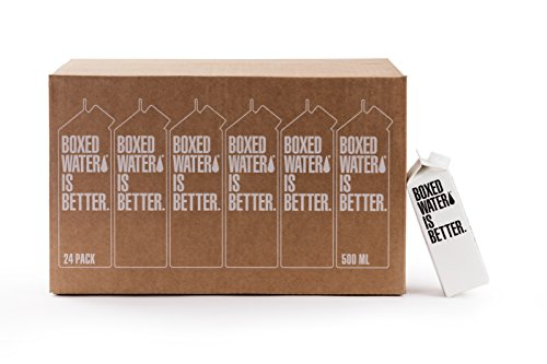 - Boxed Water 16.9 ounce 24 Pack, Better than plastic bottled water, BPA free drinking water