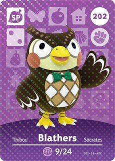 Blathers - Nintendo Animal Crossing Happy Home Designer Amiibo Card - 202