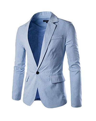 Fit Hellblau Décontractée Slim Suit Automne Bouton Veste Homme Costume Élégant 1 Retro Outwear Vestes Loisirs Blazer RwgtAn
