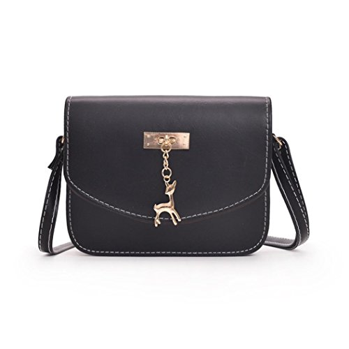 Black Deer Small Bag Leather Shoulder Womens Inkach Handbags Bags Tote Messenger Cross Body wYqOxUXxF7