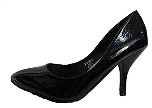 Spot On , Damen Pumps Schwarz schwarz, Schwarz - schwarz - Größe: 40