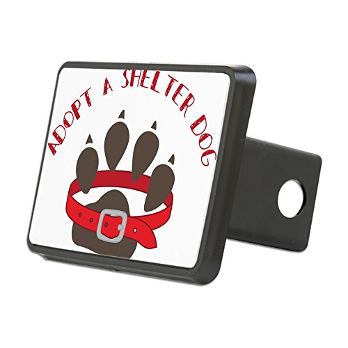 - CafePress - Adopt A Shelter Dog Hitch Cover - Trailer Hitch Cover, Truck Receiver Hitch Plug Insert