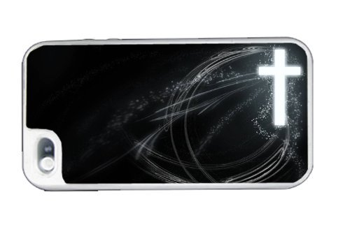 Cross Frees Christian - Best 3 in 1 cell phone case for iPhone 4, iPhone 4S - WHITE (Adidas Iphone 4s Case)