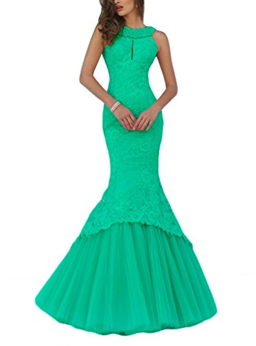 Green Women's Evening beaded pearls Mermaid Chellen Lace Dresses Ch021 Dresses Prom v4dqd6wH