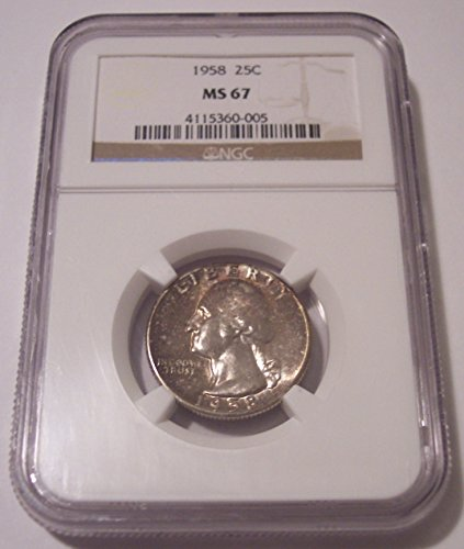 1958 Washington Quarter MS67 NGC