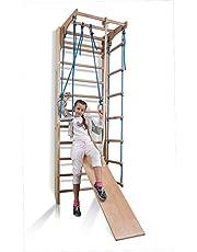 Espaldera de Fitness Kombi-3-240 Espaldera para Gimnasio Escalera Sueca Niños de Juegos