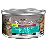 Purina Pro Plan Adult Cat Food, Trout and Pasta Entrée, 3-Ounce Cans (Pack of 24), My Pet Supplies