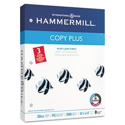 - Copy Plus Copy Paper, 3-Hole Punch, 92 Brightness, 20lb, Ltr, White, 500 Shts/Rm