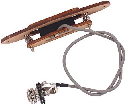 シガーボックスギターのための6.35ミリメートルジャックを持つ3つの文字列3ポールギターピックアップメープルウッドハムバッカーピックアップ 楽器パーツ