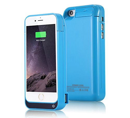 iPhone 5 Battery Case, SQDeal Portable 4200mah External Battery Charger Case Protective Cover Juice Power Bank for iPhone 5/5S/5C SE (Light Blue)