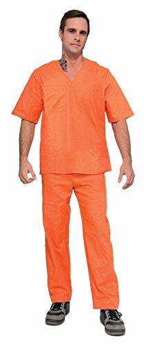 Prisoner Costume Orange (Adult Orange Prisoner Halloween Costume)