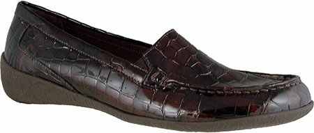 Wandelwieg Dames Regan Slip-on Loafer Bruin Croc Lakleder