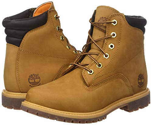 Waterproof 6 Waterville Bottes wheat Jaune Basic Timberland Inch Femme Ixpq5Hfw