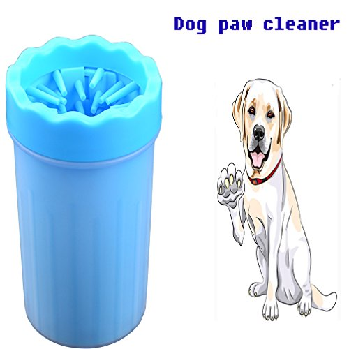 SEPTDANER Pet Paw Cleaner For Dogs Clean dog paws Pet feet washer Pet Cleaning Brush Cup for Dogs Cat Grooming (Medium, Blue)