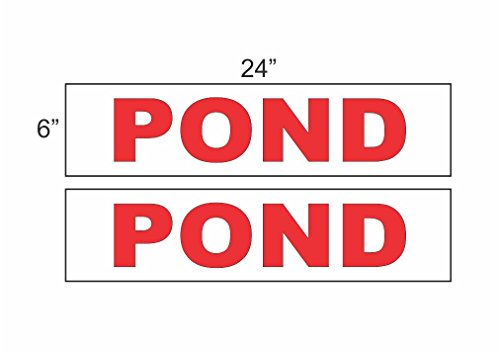 Wholesale 2 - 6x24 POND Real Estate Rider Sign Red supplier