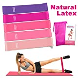 Rantizon Resistance Bands Resistance Bands for Legs and Butt Exercise Bands, Home Fitness, Crossfit, Stretching, Strength Training, Physical Therapy, Natural Latex Workout Bands