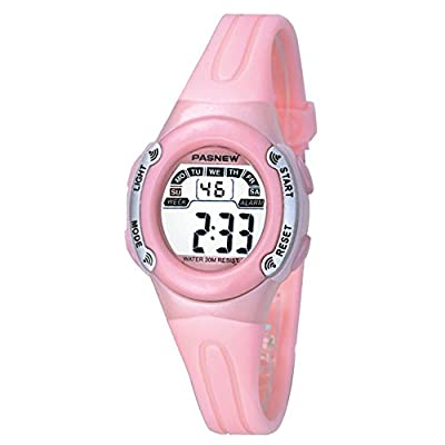 Casual Waterproof Children Girls Digital Sport Watches with Alarm, Chronograph, Date by Jewtme