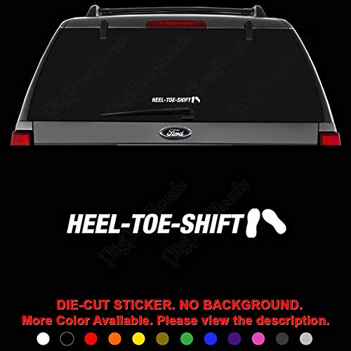 JDM Heel Toe Shift Manual Die Cut Vinyl Decal Sticker for Car Truck Motorcycle Vehicle Window Bumper Wall Decor Laptop Helmet Size- [8 inch] / [20 cm] Wide || Color- Gloss Black