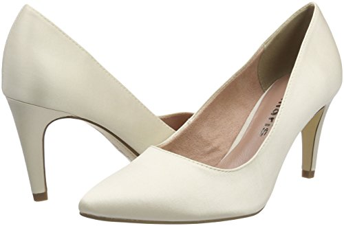 Tamaris Tacón Para 22500 179 De Zapatos Mujer Blanco champagne Fxq4FHw