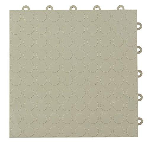 Greatmats Garage Floor Tile Cointop 1 ft x 1 ft 24 Pack Light Gray (Plastic Garage Floor Tiles)