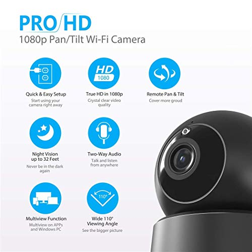 Indoor Security Camera, VICTONY Wireless 1080P Home Camera, WiFi Home Surveillance IP Camera for Baby/Elder/Pet/Nanny Monitor, Pan/Tilt, Two-Way Audio & Night Vision(E24) by VICTONY (Image #1)