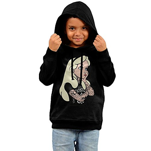 Twisted Alice In Wonderland Tattoo College Hooded Sweatshirt Little Girl ()