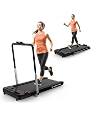 MAXFREE 2 in 1 Under Desk Treadmill, 2.25 HP Folding Electric Treadmill Walking Jogging Machine with APP, Remote Control, Bluetooth Speaker, LED Display for Home, Office, Gym