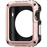 Spigen Tough Armor Apple Watch Case with Extreme Heavy Duty Protection and Built In Screen Protector for Apple...