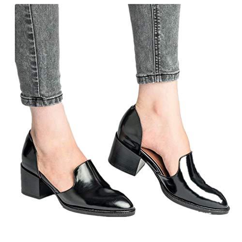 De 35 Cuir Escarpins Block Chaussures Femme Bleu Ville Noir 43 Flatform 5 Casual Cm Heel 5 Basses Vintage Fête Pointu Été Mocassins Talon 71d6pxn
