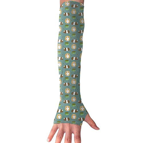 Unisex Cute Guinea Pig Sunscreen Outdoor Travel Arm Warmer Long Sleeves Glove by I Like Exercise (Image #5)