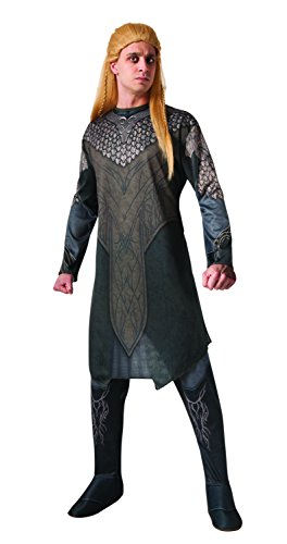 Legolas Costume - Rubie's Costume Men's Hobbit 2 Desolation Of Smaug Adult Legolas, Green, Large