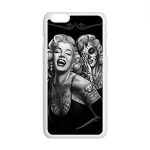 HDSAO Marilyn skull Case Cover For iPhone 6 Plus Case