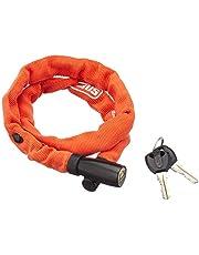 ABUS Kettingslot 1500/60 Web – fietsslot van staal – veiligheidsniveau 3 – 60 cm – 56920 – oranje