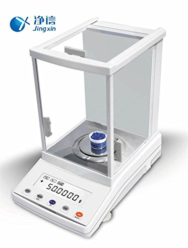 Jingxin Technology 210g/0.1mg Digital Precision Electronic Analytical Balance Weighing Scale Scientific Laboratory LCD Display Instrument FA2104N by Jingxin Technology