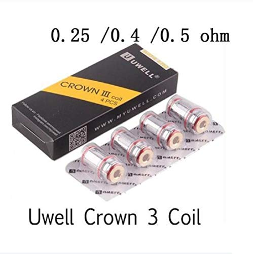 4pack Replacement C-o-i-l-s Heads for 0.25ohm 0.5ohm 0.4ohm for U-w-e-l-l Crown III (0.4ohm)