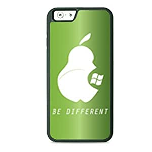 Case Fun Case Fun Green Be Different TPU Rubber Back Case Cover for Apple iPhone 6 4.7 inch