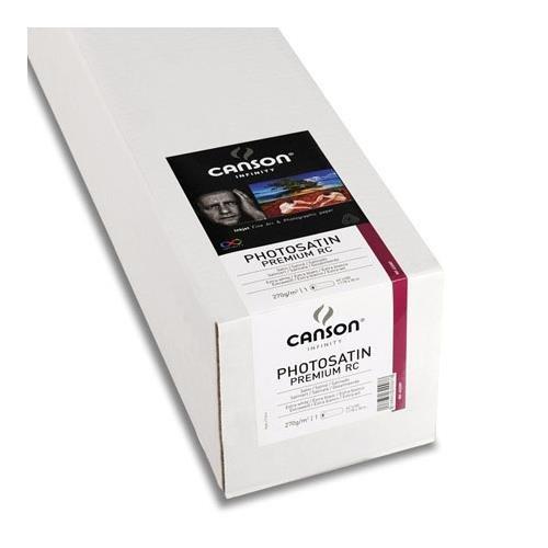 "Canson PhotoSatin Premium RC, Satin Surface, Ultra White, Photo Inkjet Paper, 270gsm, 17"" x 100' Roll."