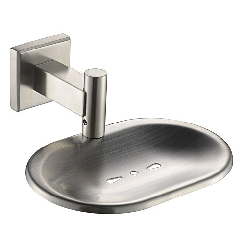 - Leyden TM SUS304 Stainless Steel Bathroom Toilet Soap Dish Soap Holders Wall Mount, Brushed Nickel Finish