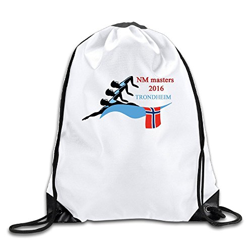 NM Swimming Masters 2016 Lightweight Drawstring Pouch Backpack White Size One Size