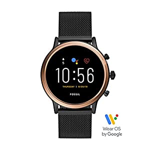 Fossil Gen 5 Julianna Stainless Steel Touchscreen Smartwatch with Speaker, Heart Rate, GPS, Contactless Payments, and…