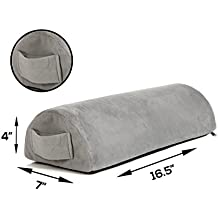 Memory Foam Pillow Supports Back, Head, Leg Knee Pain Relief, Bed, Chair seat Foot Rest Under Desk Cushion Sciatica Pregnancy Hip & Joint surgery Better Circulation Gentle Comfort, Alleviates Pressure