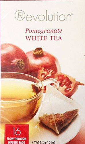 Revolution Tea White Pomegranate Tea, 16-Count Teabags (Pack of 6)