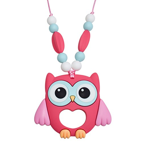 Price comparison product image Munchables Sensory Owl Chew Necklace - Chewelry (Pink)