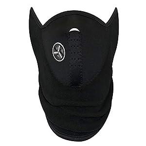 Masque facial en noir parfait pour l'hiver et les sports: ski, snowboard, BMX, vélo, course, randonnée, paintball et activités de plein air – par TRIXES