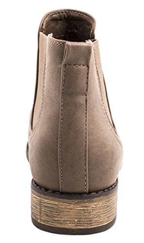 Mujer Marrón Elara Botas plisadas marrón f1xF4q